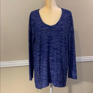NWT SPLENDID V NECK TUNIC WITH ZIP ACCENT @ HEM!